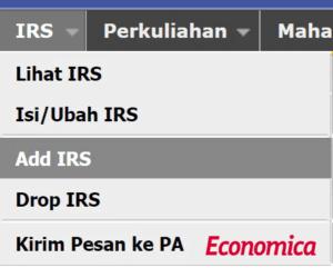 "regol FEB 2020 memakai sistem ""Add/Drop IRS"", berbeda dengan regol sebelumnya yang menggunakan ""Isi/Ubah IRS"""